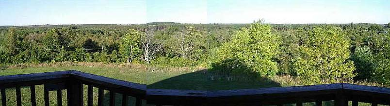 A composite picture of our view from the front deck